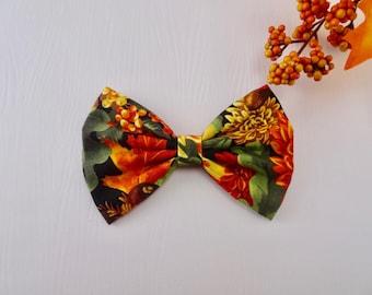 Fall hair bows, Autumn hair bows, girl hair bows, toddler hair bows, adult hair bows, women hair bows, women hair accessories