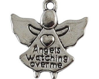 "Angel ""Angels Watching Over Me"" - Set of 10 charms - #A104"