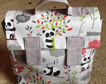 Kids Panda - fabric satchel bag