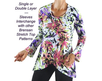 Singapore Sling Stretch Pullover Sewing Pattern, BSS313