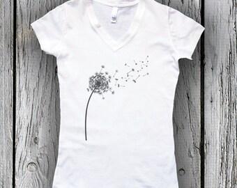 DANDELION Tee, aesthetics shirt, Yoga, feminine, nature, delicate, illustration, meditation, Birthday Gift for Her, women