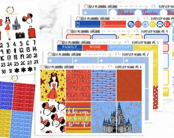 Forever Young Kit, Disney Inspired Weekly Kit, Disney Inspired planner stickers, Disney Inspired Planner Kit, for use with Erin Condren