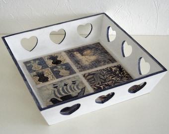 """""""Venetian heart"""" wooden serving tray"""