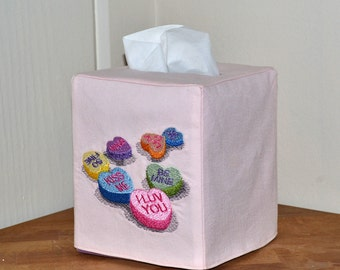 Sweet Conversations Tissue Box Cover