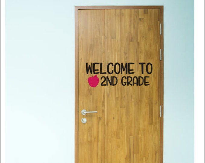 Welcome To Classroom Decal Vinyl Decor for School Back to School Teacher Decal Classroom Door Decal Wall Decal School Teacher Decor