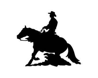 Cowboy Riding a Horse Car Decal