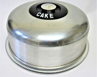 Aluminum Cake Keeper Holder Saver Glass Plate