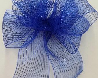 Royal Blue Mesh Bow