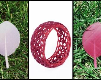Unique 3D Printed Colour Changing Thermochromic Modern Fashion Voronoi Bracelet