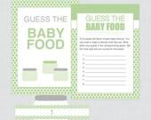 Baby Shower Baby Food Gam...