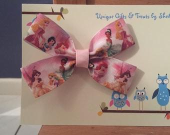 Disney Princess (Aurora , Snow White, Ariel, Tiana, Rapunzel, Belle) Hair Bow