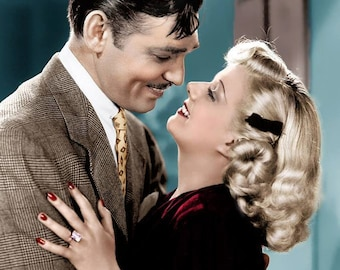 Clark Gable & Jean Harlow from  Saratoga 1937