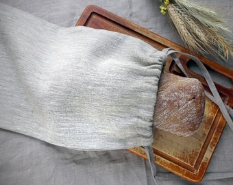 Linen Bread Bag, Ecological bread keeper, Storage Pouch, Drawstring Bag, Linen Bread Keaper, Linen Product Bag, Linen Gift Bag