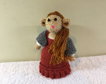 Demelza Mouse - Original Hand-Knitted Character
