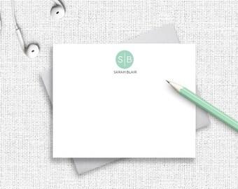 Monogram Personalized Stationery, Personalized Stationary, Monogram Notecards, Personalized Note Cards, Custom Stationery, Thank You,  MG01