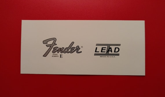 Fender Stratocaster Lead I Series Waterslide Decal in Metallic Silver X2