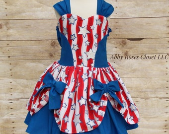 Ready to ship Patriotic dress , Fourth of July dress