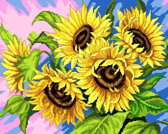 SUNFLOWERS -Cross Stitch Pdf Pattern