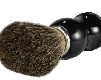 Men's Natural Shaving Brush ~ Boar Bristle w/ Black Handle ~ Comes in a Box