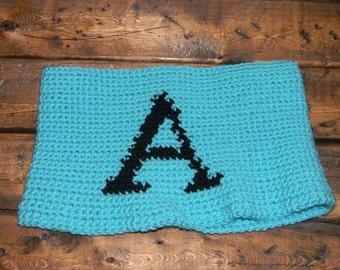 Crochet Monogrammed Cowl