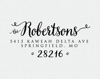 Custom Return Address Stamp, Self Inking Stamp, Wood Stamp, Wedding Present, Bridal Shower Gift, Housewarming Gift, Christmas Present (T210)