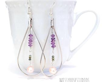 boho statement earrings, silver statement earrings, statement jewelry, boho earrings dangle, earrings bohemian, long teardrop earrings