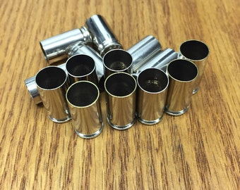 9MM Silver Casings (50)  Cleaned & Polished