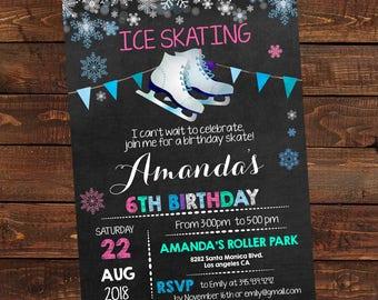 Ice Skating Invitation - Ice Skating Birthday Invites - Ice Skating Party Invitation - Ice Skate Party - DIY Party Invitation