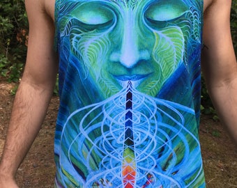 Chlorophyll TankTop - Made with Recycled Water Bottles! Art by Annie Kyla Bee