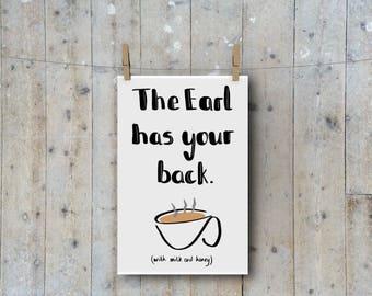 Earl Grey Tea A4 Office Print