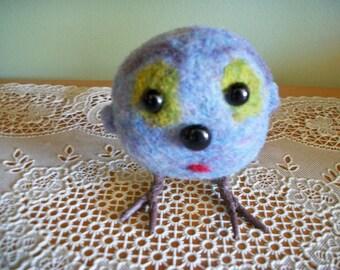 Felted OddBall, Handmade Creature, Adopt Me, FeltWthAHeart