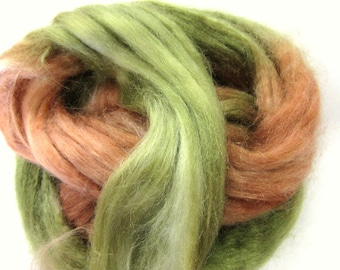 Tussah Silk Roving for Spinning, Felting Silk, Paper Making. Green and Brown - Australia
