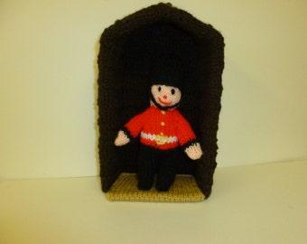 Mini guardsman in a sentry box