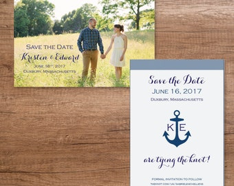 Custom Save the Date Postcard- Nautical