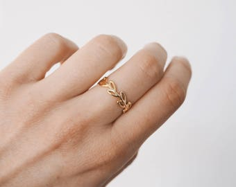 Branch Ring - delicate ring- Gold ring - delicate ring - minimalist jewelry - gold delicate ring - Minimalist jewelry - R002