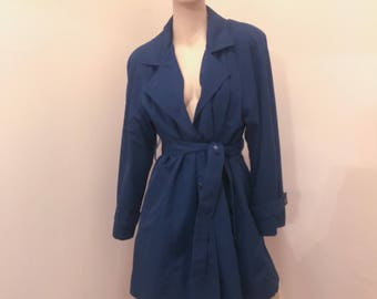Vntg London Fog Trench Coat w/ Zip Out, size M