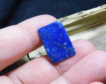 Rectangle bleu Lapis Lazuli Pierre épingle à cravate chapeau collier foulard broche épinglette