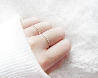 sterling silver ultra thin stacking ring, hammered silver ring, skinny whisper ring, silver ring, hammered stacking ring, thin hammered ring