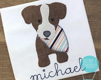 Vintage Dog Applique Shirt / Dog Applique Shirt / Boy Dog Applique / Patchwork Dog Shirt / Doggie Applique / Toddler Dog Shirt / Puppy Shirt