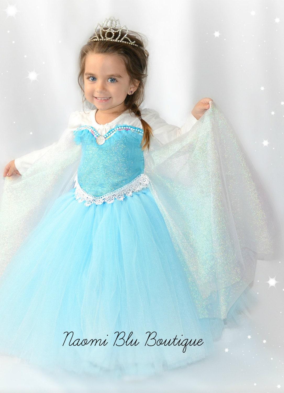 Disney Inspired Frozen Princess Queen Elsa Tutu Dress. Great