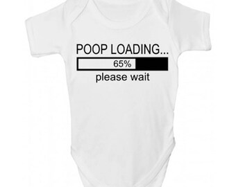 Poop Loading Funny Baby Grow