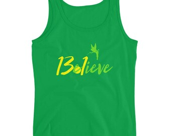 Believe 13.1 Half Marathon Tinkerbell Ladies' Tank