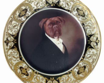 Portrait of Brutus the Boxer Plate 7.65""