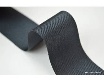 Ribbon black grosgrain, 38 mm.