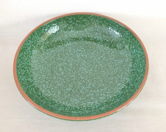MOLDE PORTUGAL POTTERY Green Granite Look Serving Bowl - Green Mottled Serving Pasta Bowl - Portugal Pottery