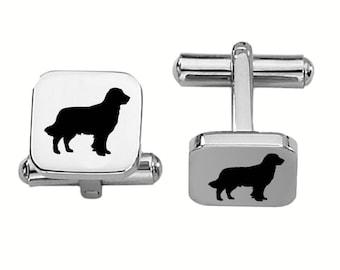 Golden Retriever Cufflinks | Dog Cufflinks | Custom Cufflinks | Stainless Steel