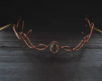 Copper Elven Circlet - Elven circlet - Elven Headpiece - Elven Crown - Wedding - Fairy - Elven Headdress - Princess - Renaissance Circlet
