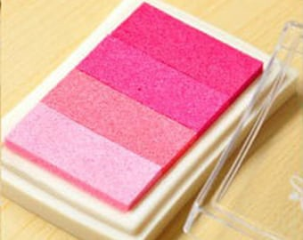x 1 box pink gradient ink stamp ink 7.5 x 5 cm