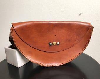 Handmade leather Pochette 70 years