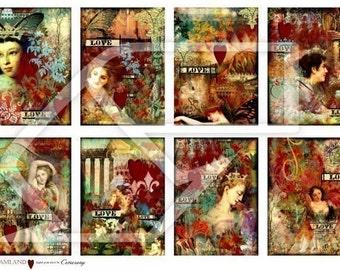 ATC Altered Art Women Digital Collage Print Sheet no71